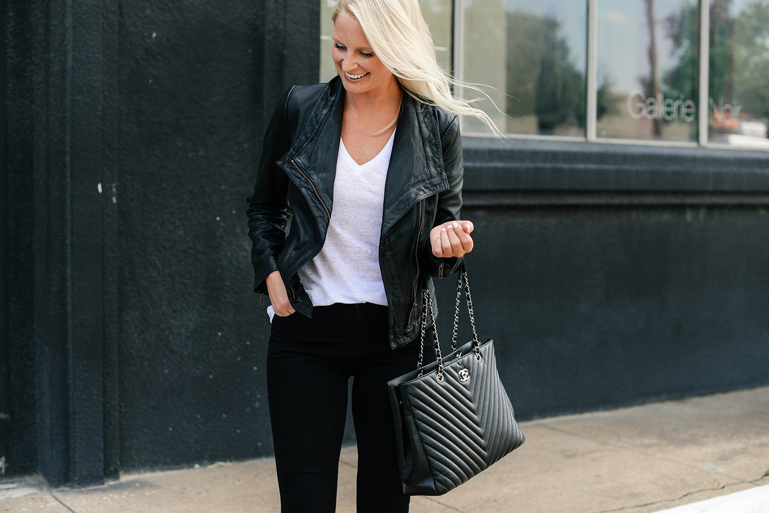 Black Leather Jacket, Nordstrom Anniversary Sale | The Style Scribe