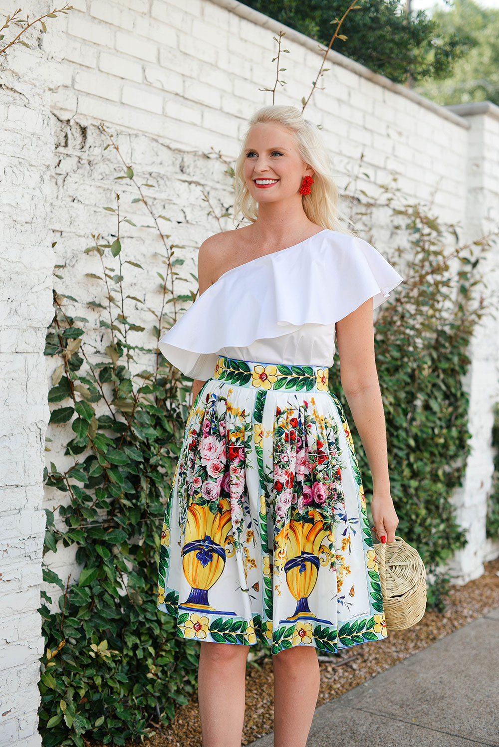 Dolce & Gabbana Printed Cotton Skirt | The Style Scribe
