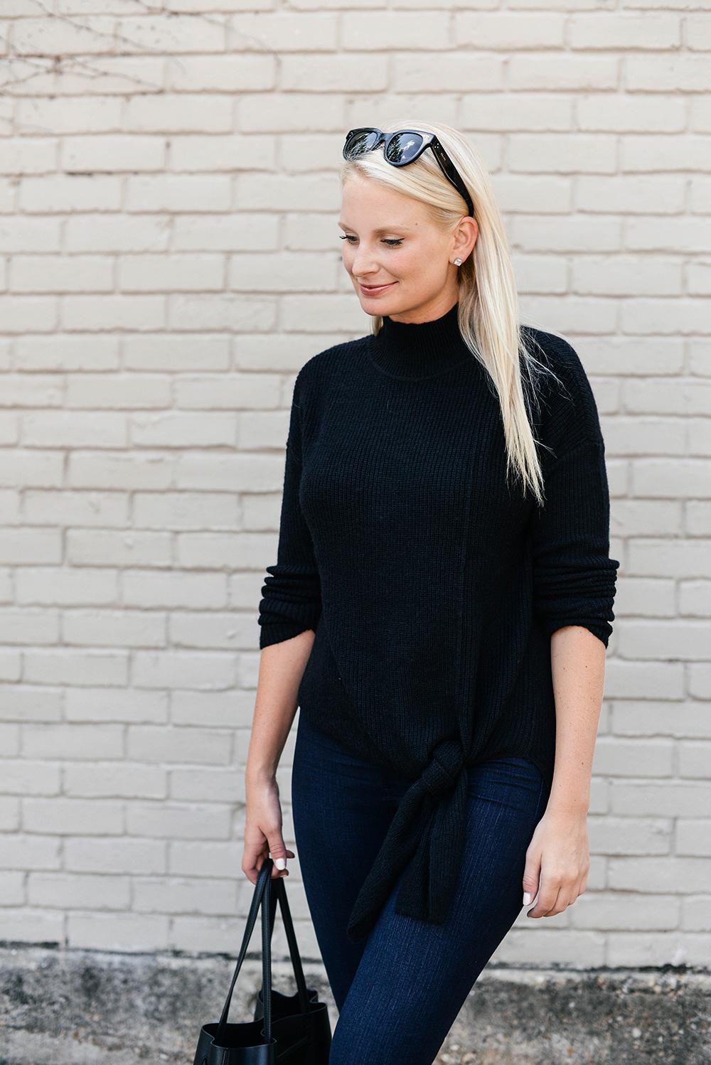 Tie Front Sweater | The Style Scribe