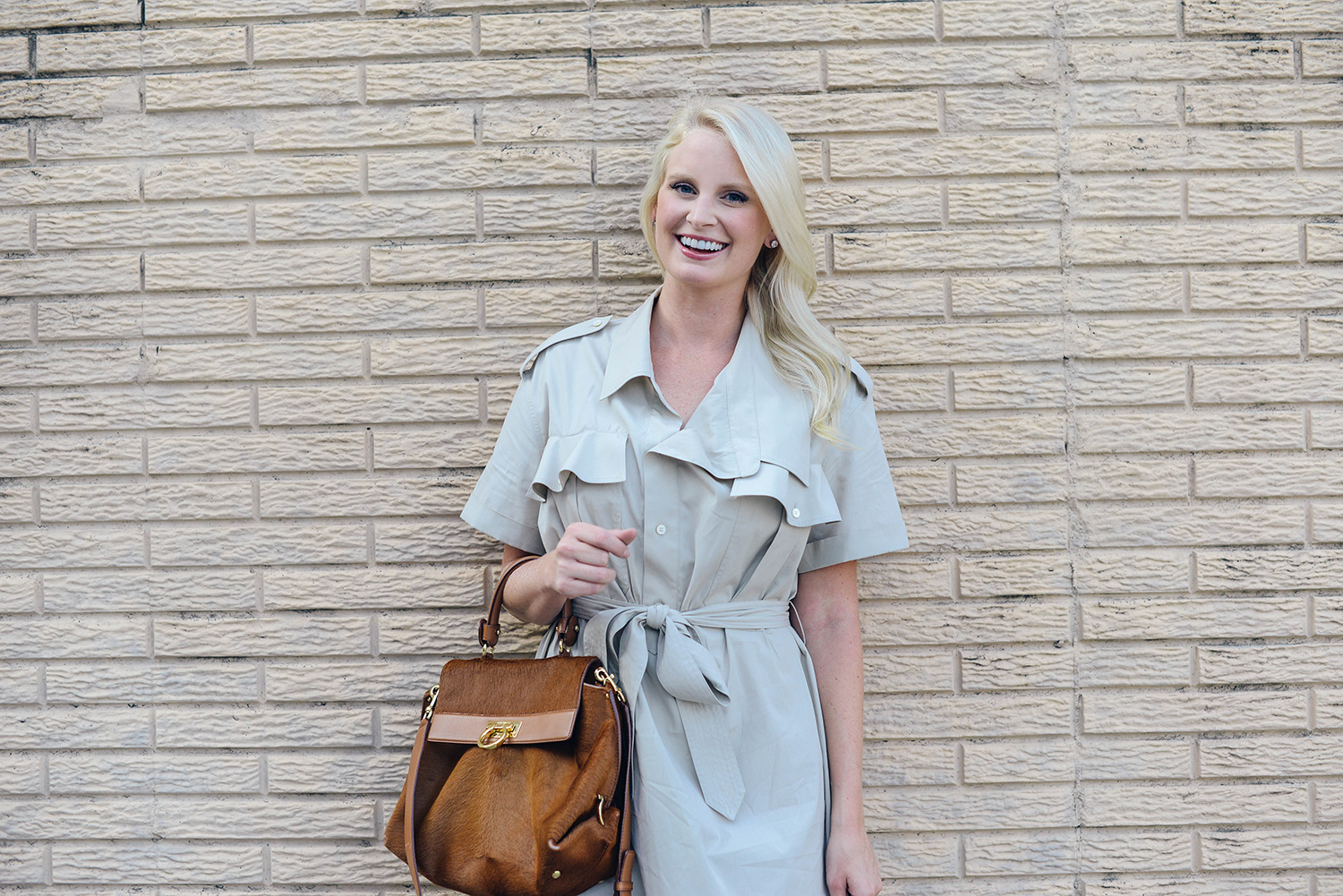 Burberry Ruffle Shirtdress | The Style Scribe