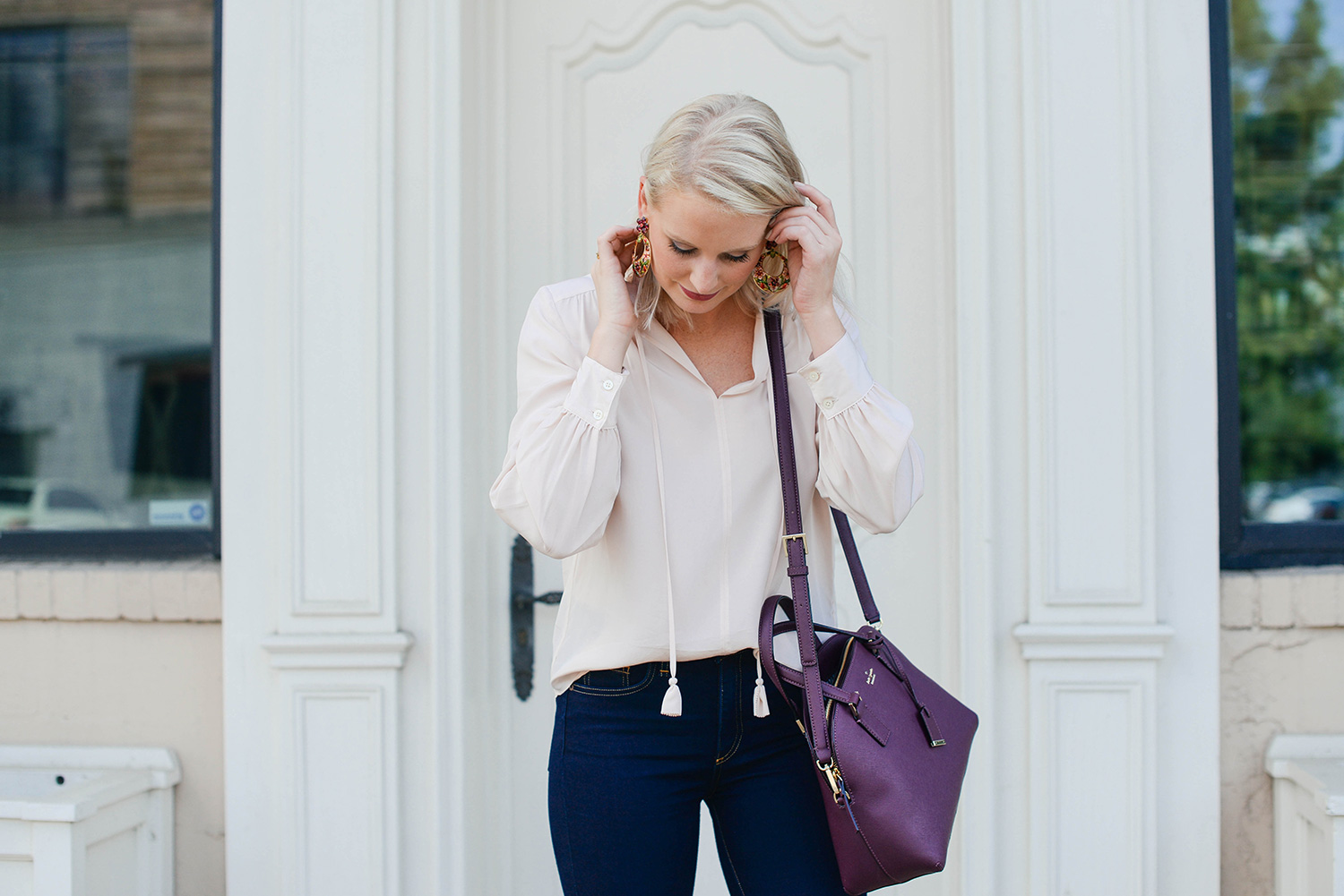 Kate Spade Cameron Street Lottie Bag in Deep Plum | The Style Scribe