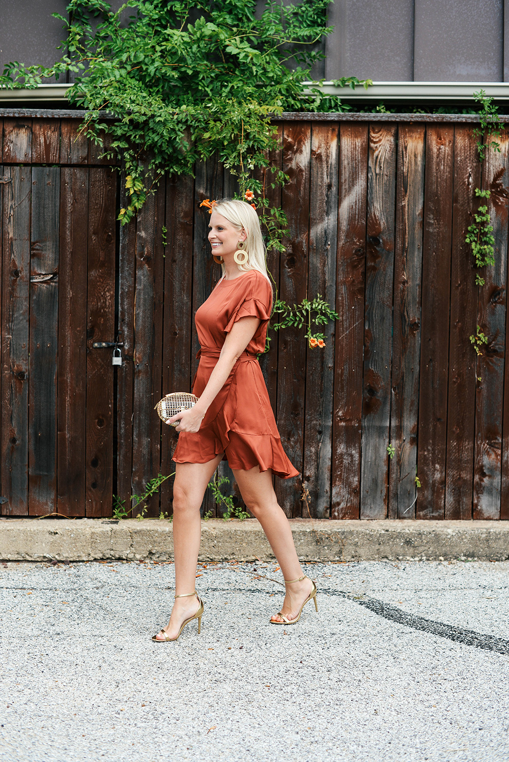 ASTR The Label Ruffle Satin Dress | The Style Scribe