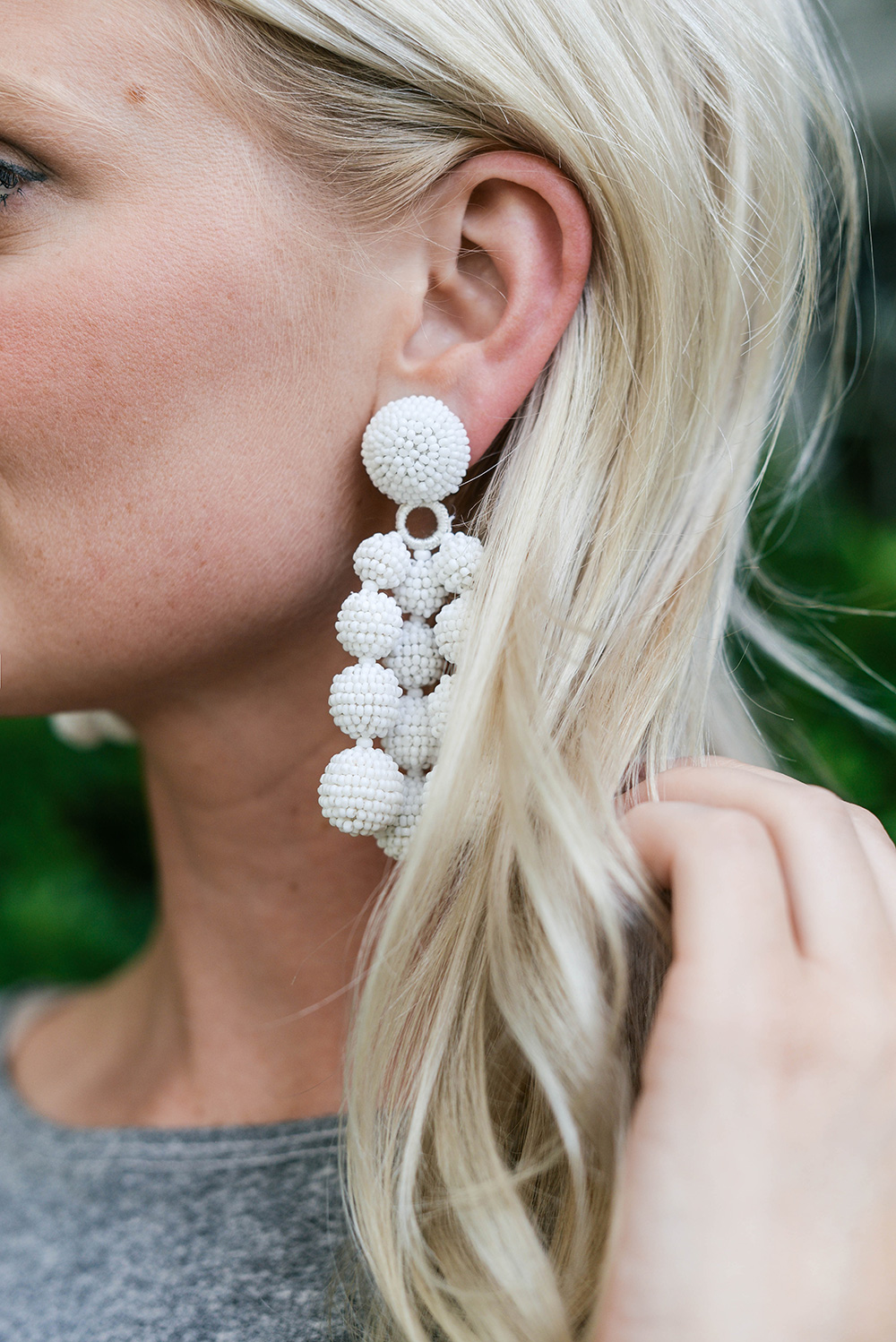 Sachin & Babi Trinity Earrings in White | The Style Scribe