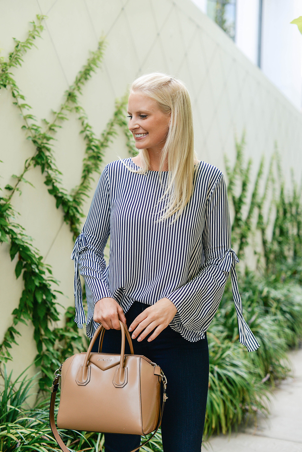 Velvet Striped Top | The Style Scribe