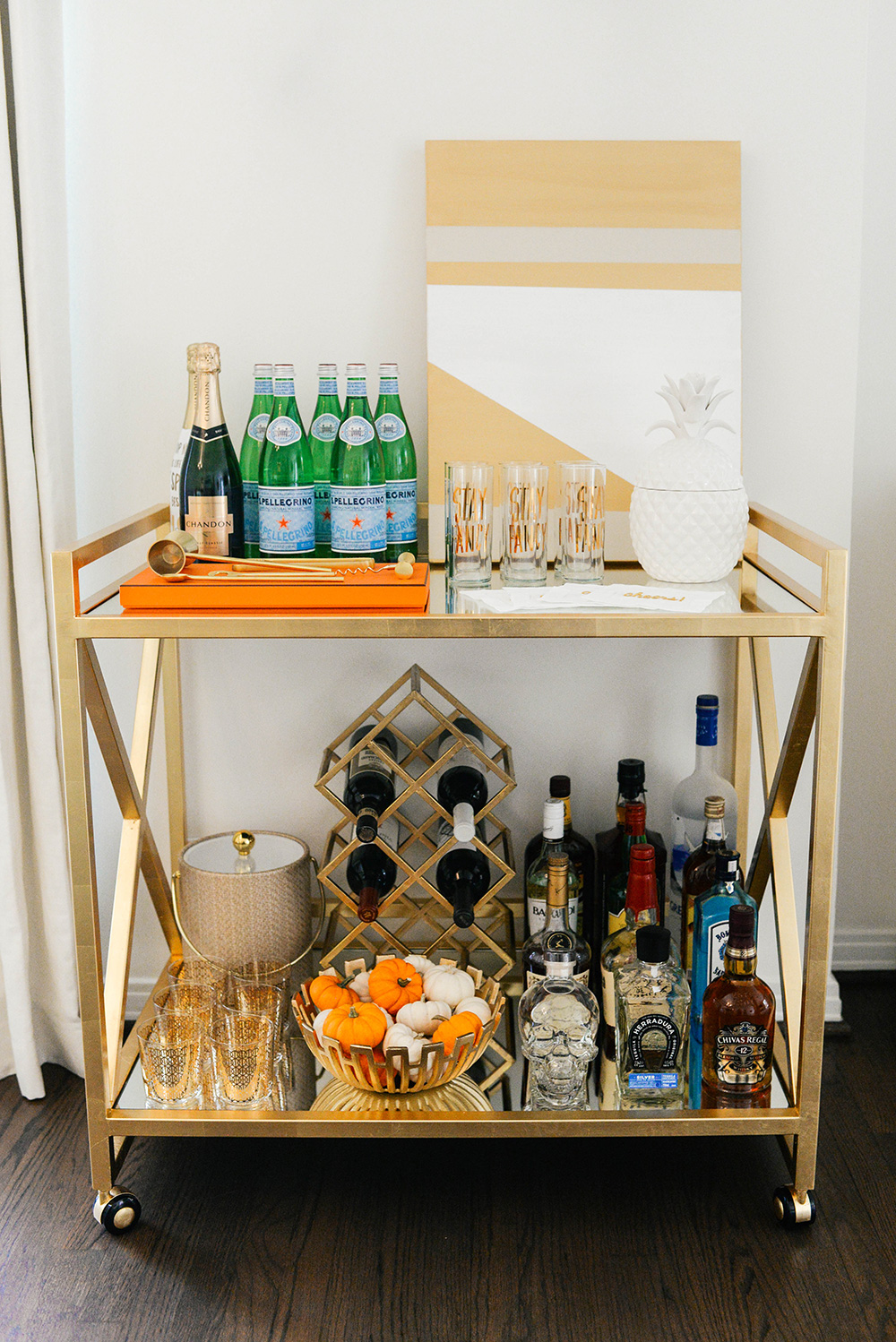 Mintwood Home Gold Bar Cart | The Style Scribe