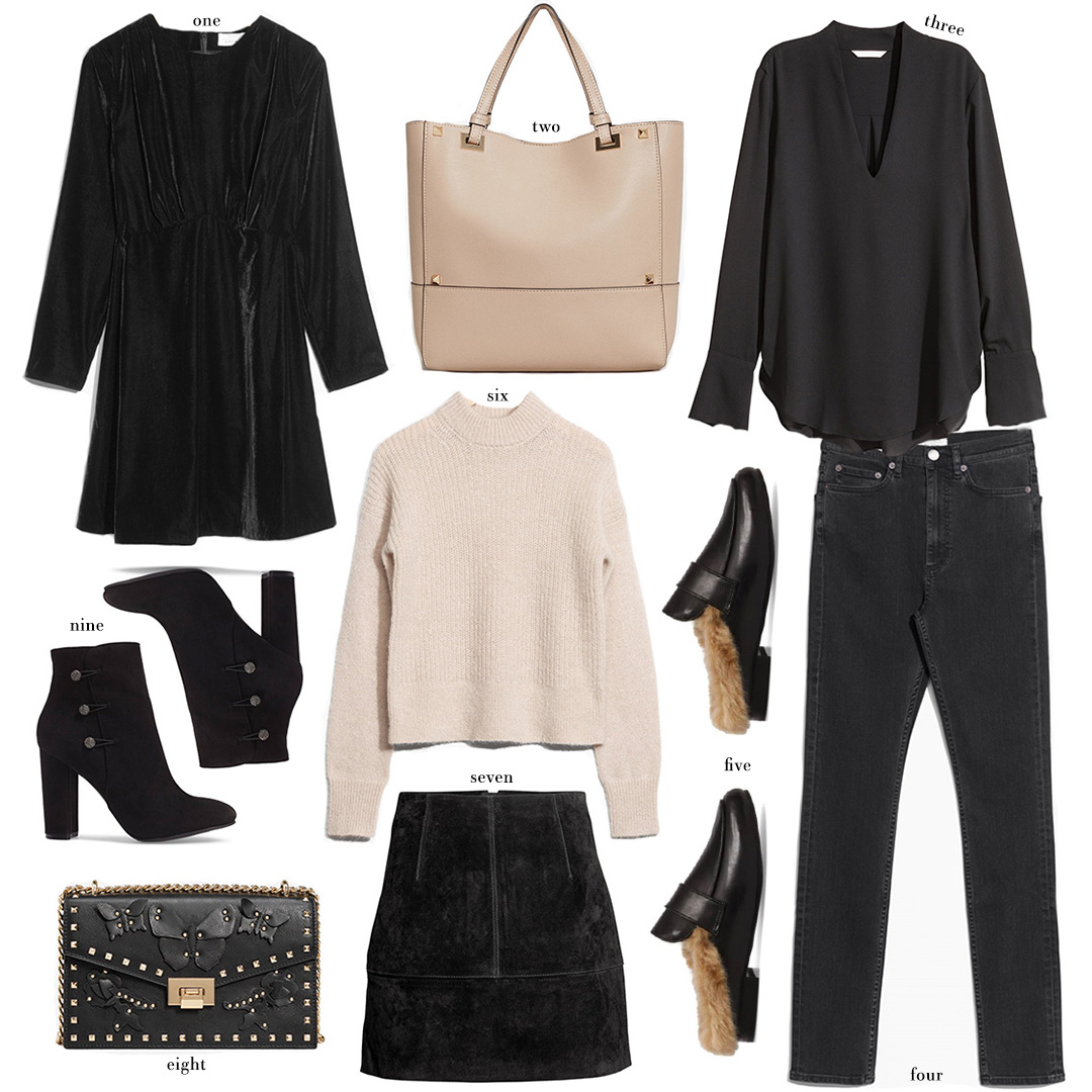Nude & Black Wardrobe Staples Under $100 | The Style Scribe