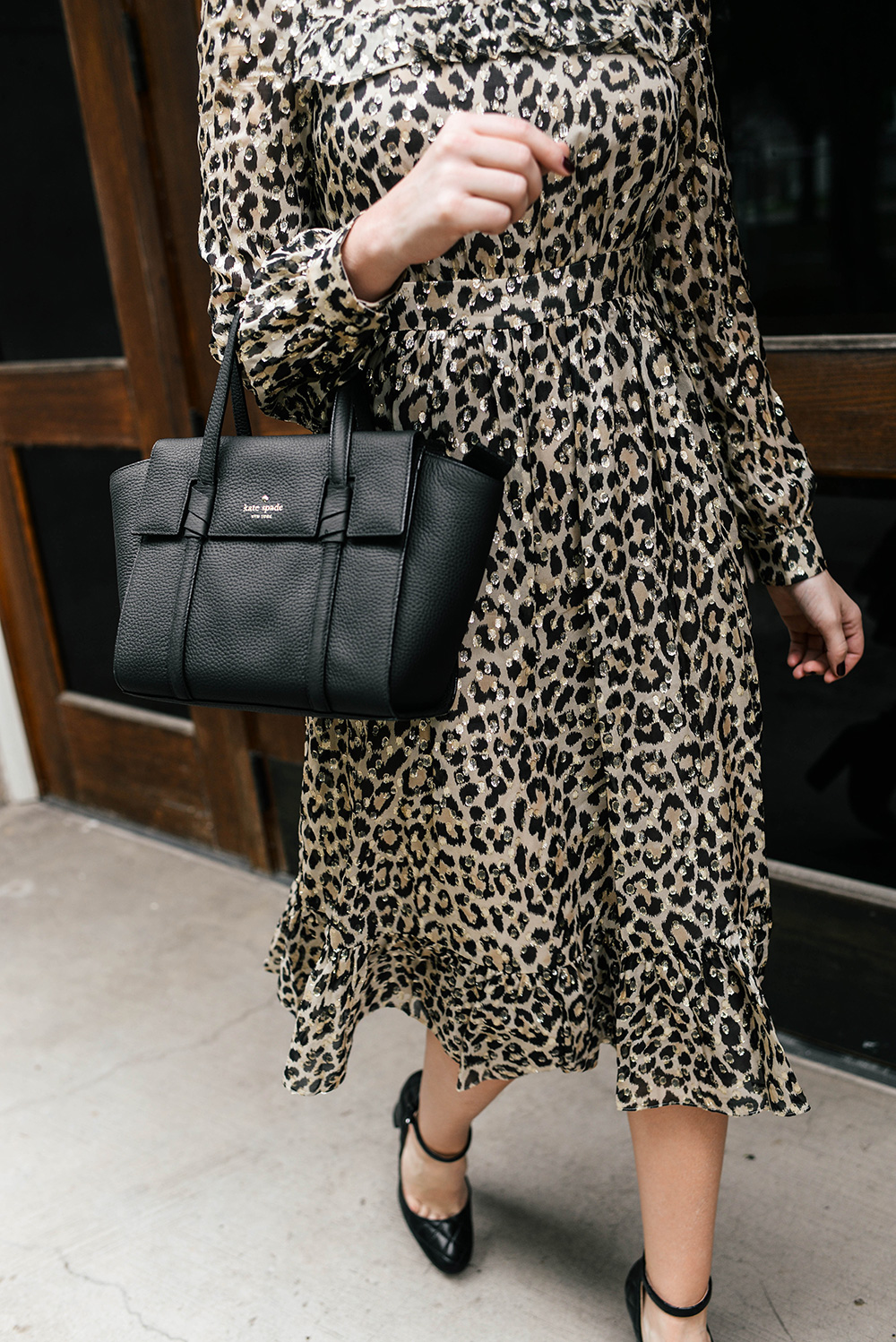 Kate Spade New York Leopard Midi Dress | The Style Scribe