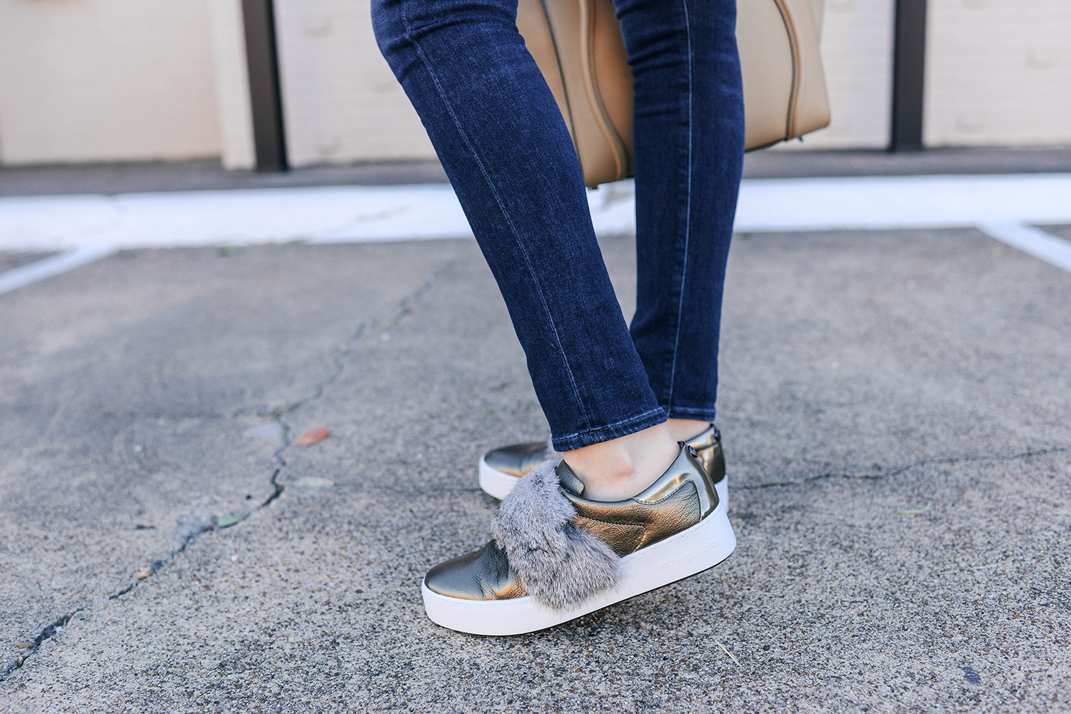 Michael Kors Fur Trim Sneaker | The Style Scribe
