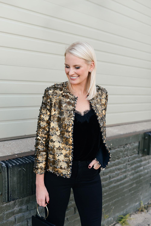Zara Sequin Jacket | The Style Scribe