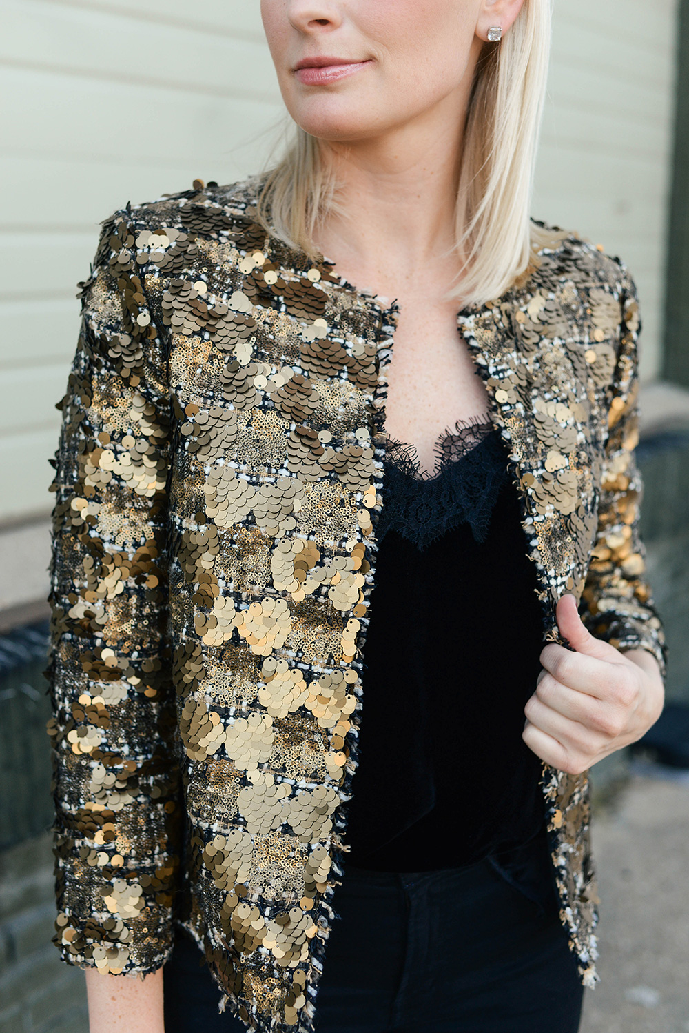 Zara Sequin Jacket | The Style Scribe