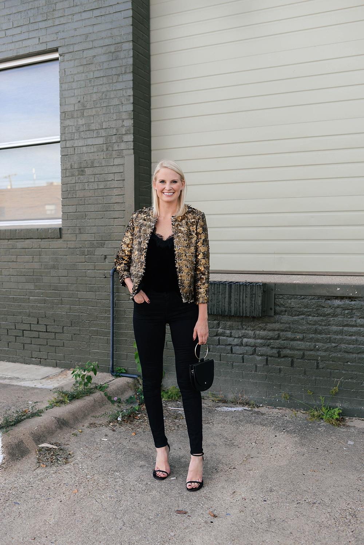 Zara Sequin Jacket   The Style Scribe