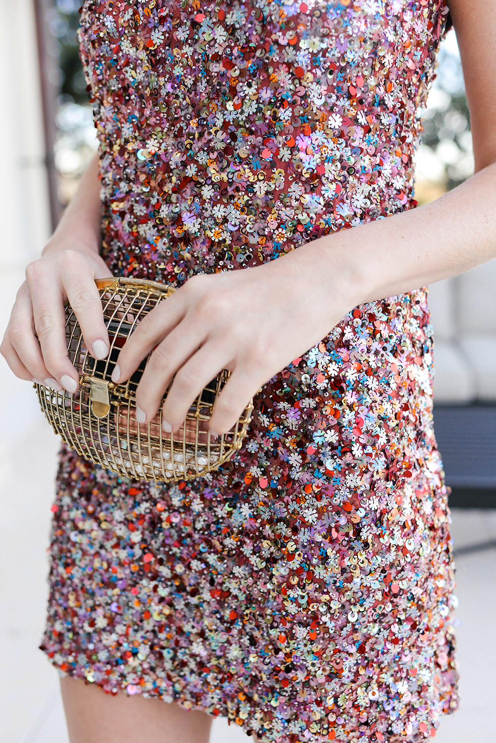Alexis Sequin Dress   Holiday Party Outfit Guide