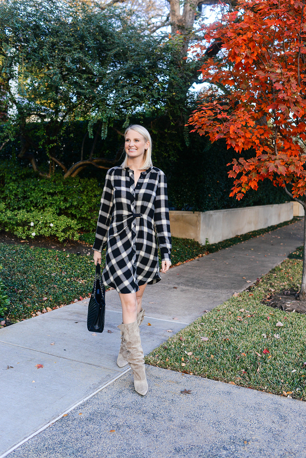 10 Crosby Derek Lam Plaid Shirtdress | Holiday Party Outfit Guide