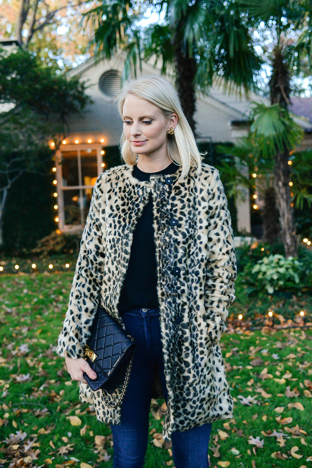 J.McLaughlin Faux Fur Leopard Coat | Dallas Style Blogger