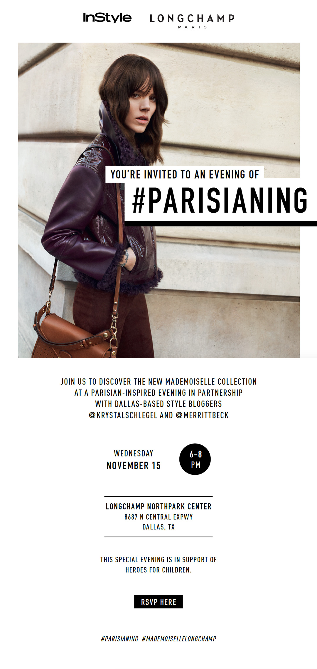 Longchamp Dallas Invitation | The Style Scribe