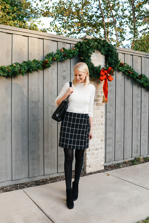 Loft Windowpane Skirt | The Style Scribe