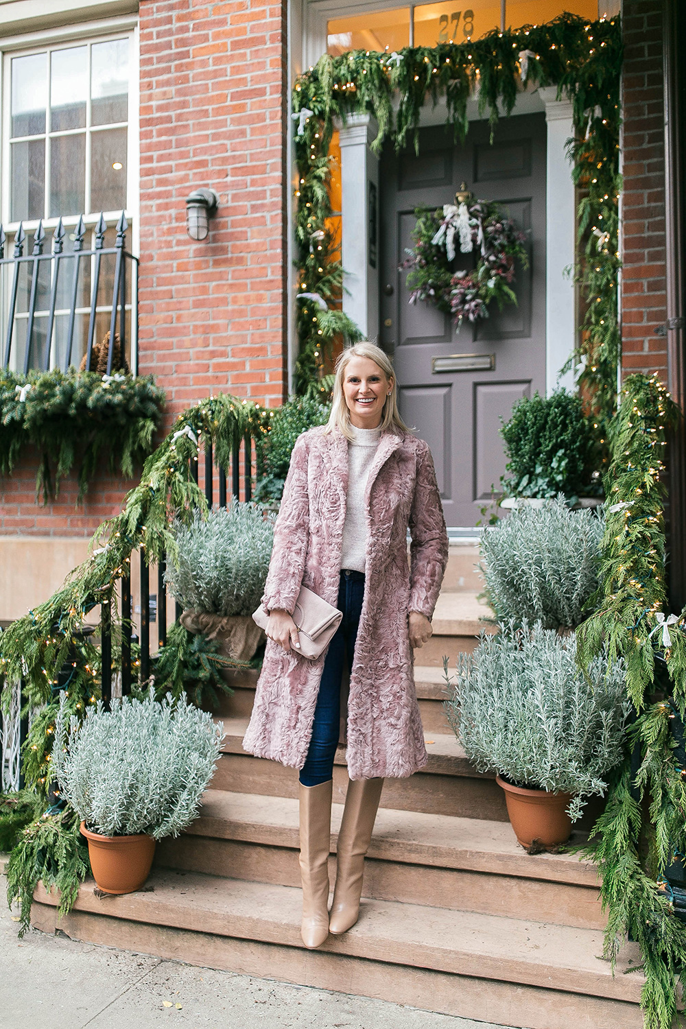 Adrienna Landau Shearling Coat | Dallas Fashion Bloggers