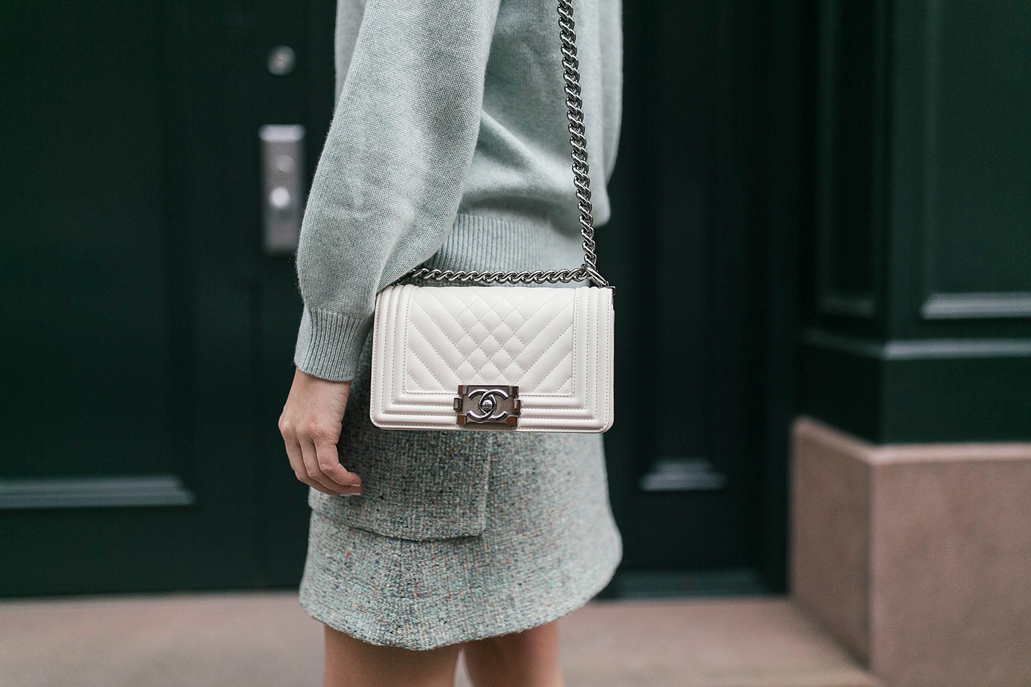 COS Cashmere Sweater + Tweed Skirt | The Style Scribe