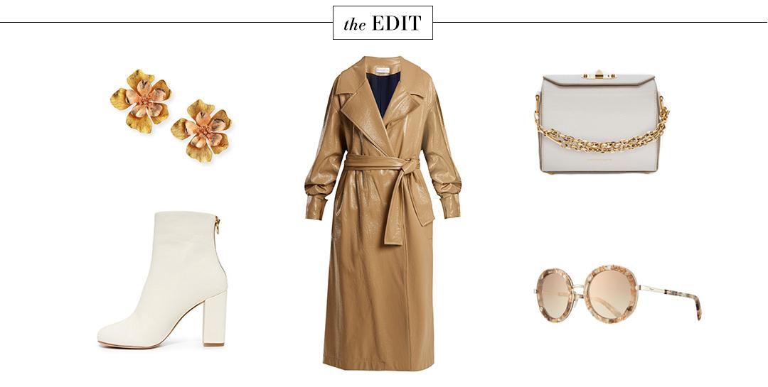 Wanda Nylon Coated Trench Coat   The Style Scribe