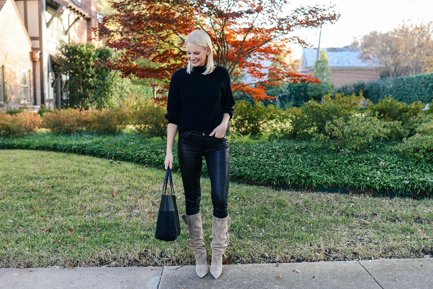 Frame Leather Skinny Pants   The Style Scribe