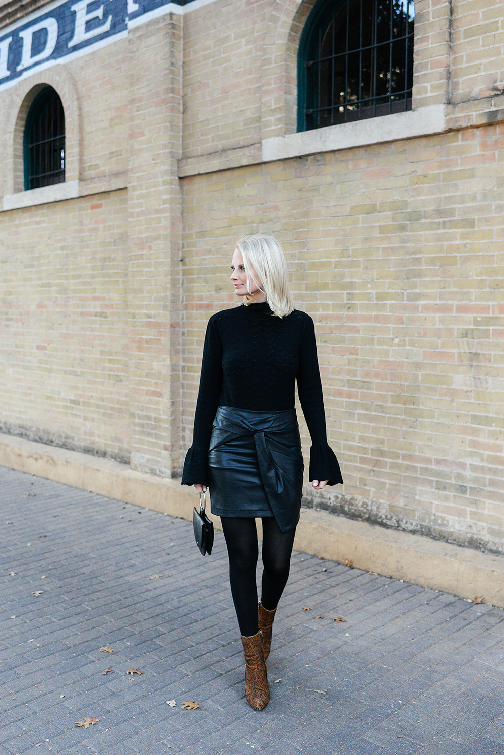 Knotted Leather Skirt | The Style Scribe