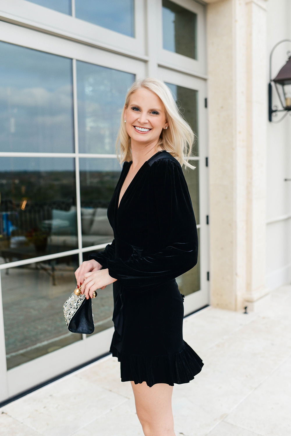 NYE Look | Velvet Little Black Dress