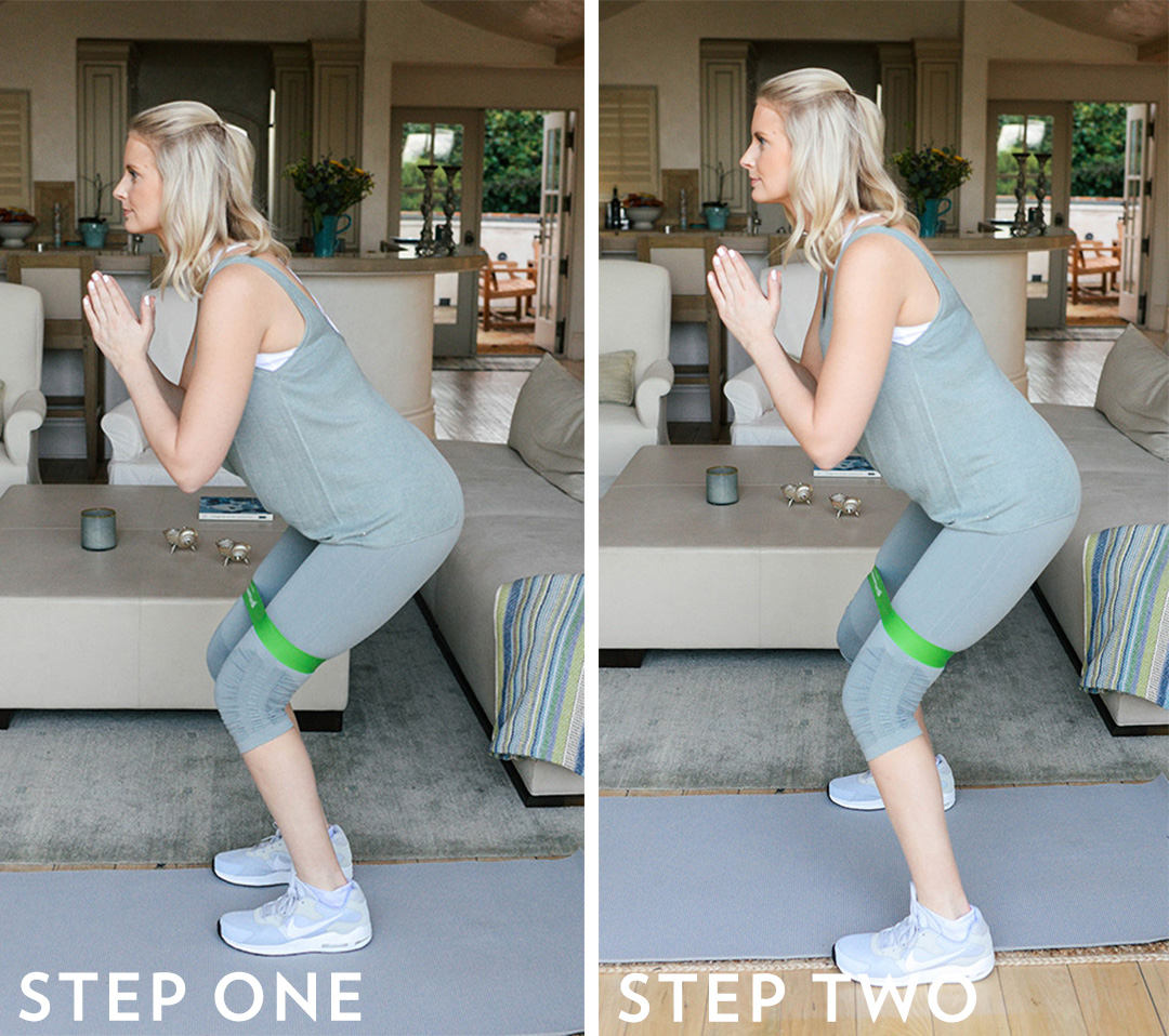 Crab Walks with Stretchy Band | Five Hip Workouts You Can Do At Home