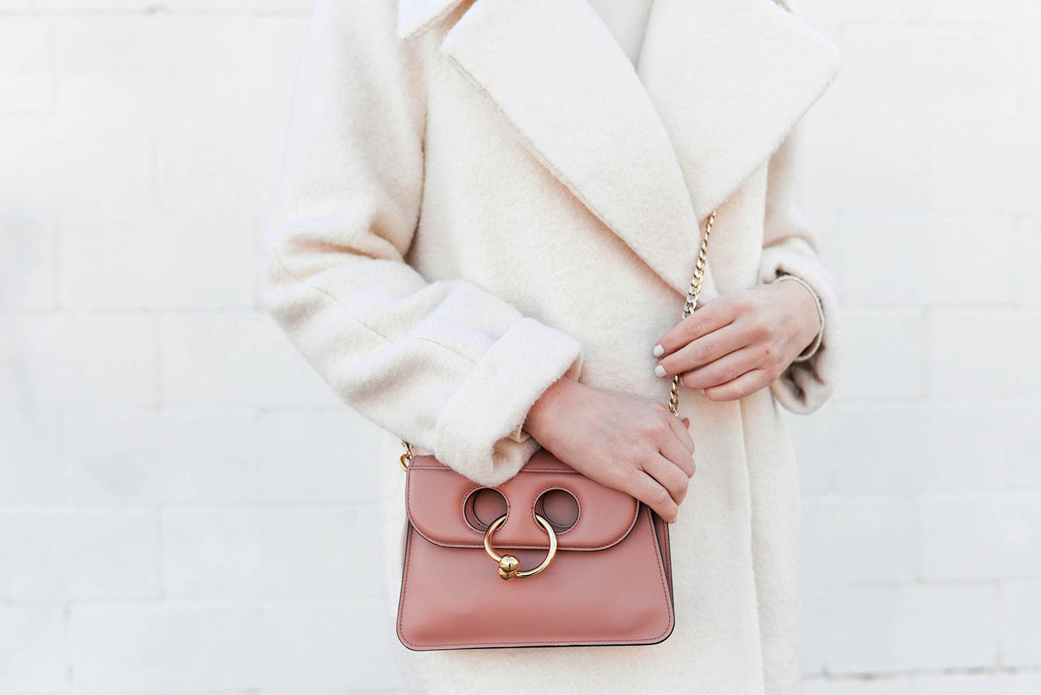 JW Anderson Mini Pierce Bag in Pink | The Style Scribe