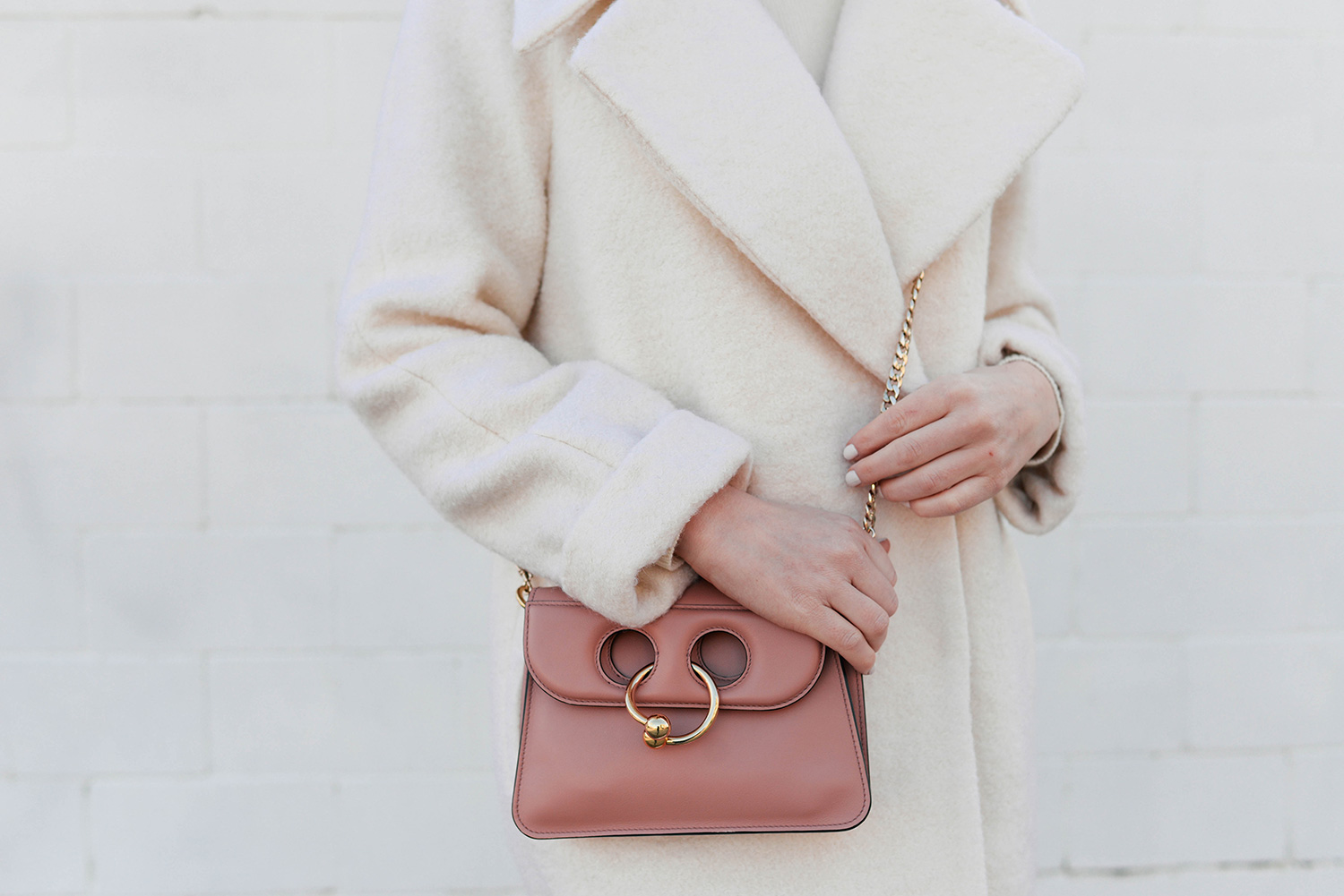 JW Anderson Pierce Bag in Pink   Dallas Style Blogger