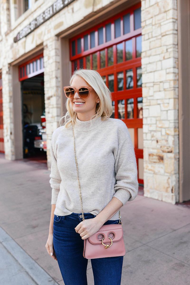 JW Anderson Mini Pink Pierce Bag | Dallas Style Blogger