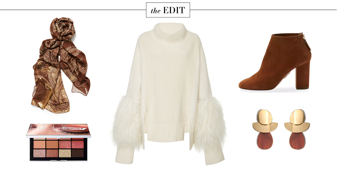 Sally LaPointe Fur Sleeve Sweater   The Style Scribe