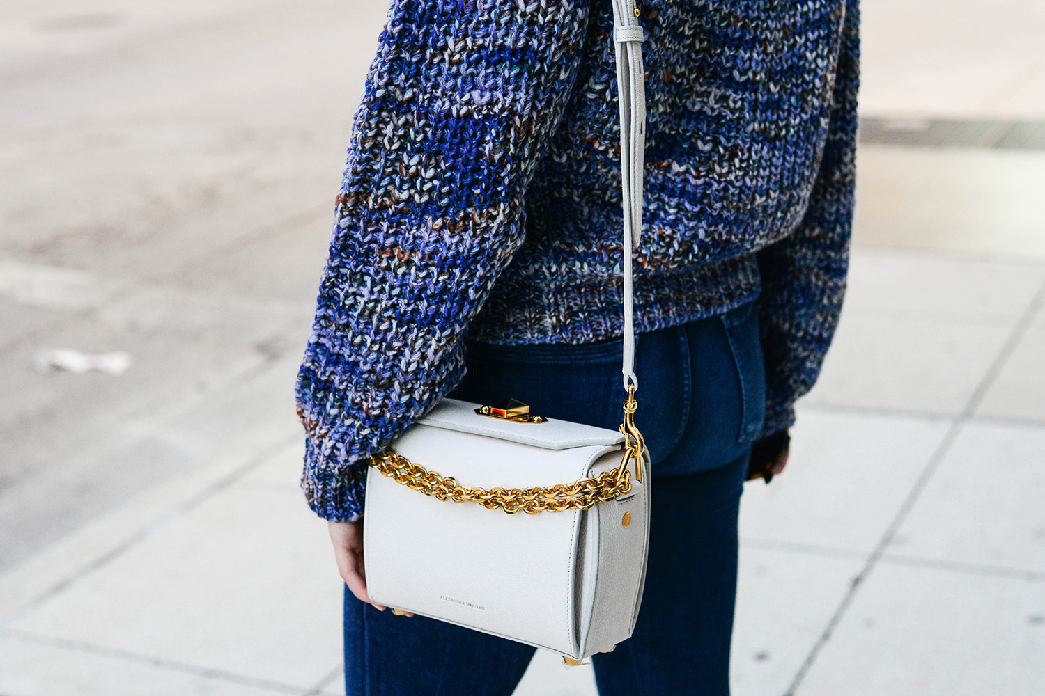 Alexander Mcqueen Box Bag + ACNE Studios Sweater | Dallas Style Blogger
