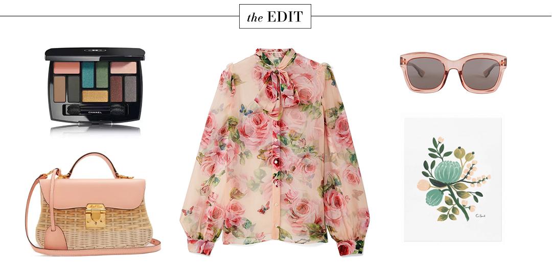Dolce & Gabbana Rose Print Silk Blouse   The Style Scribe