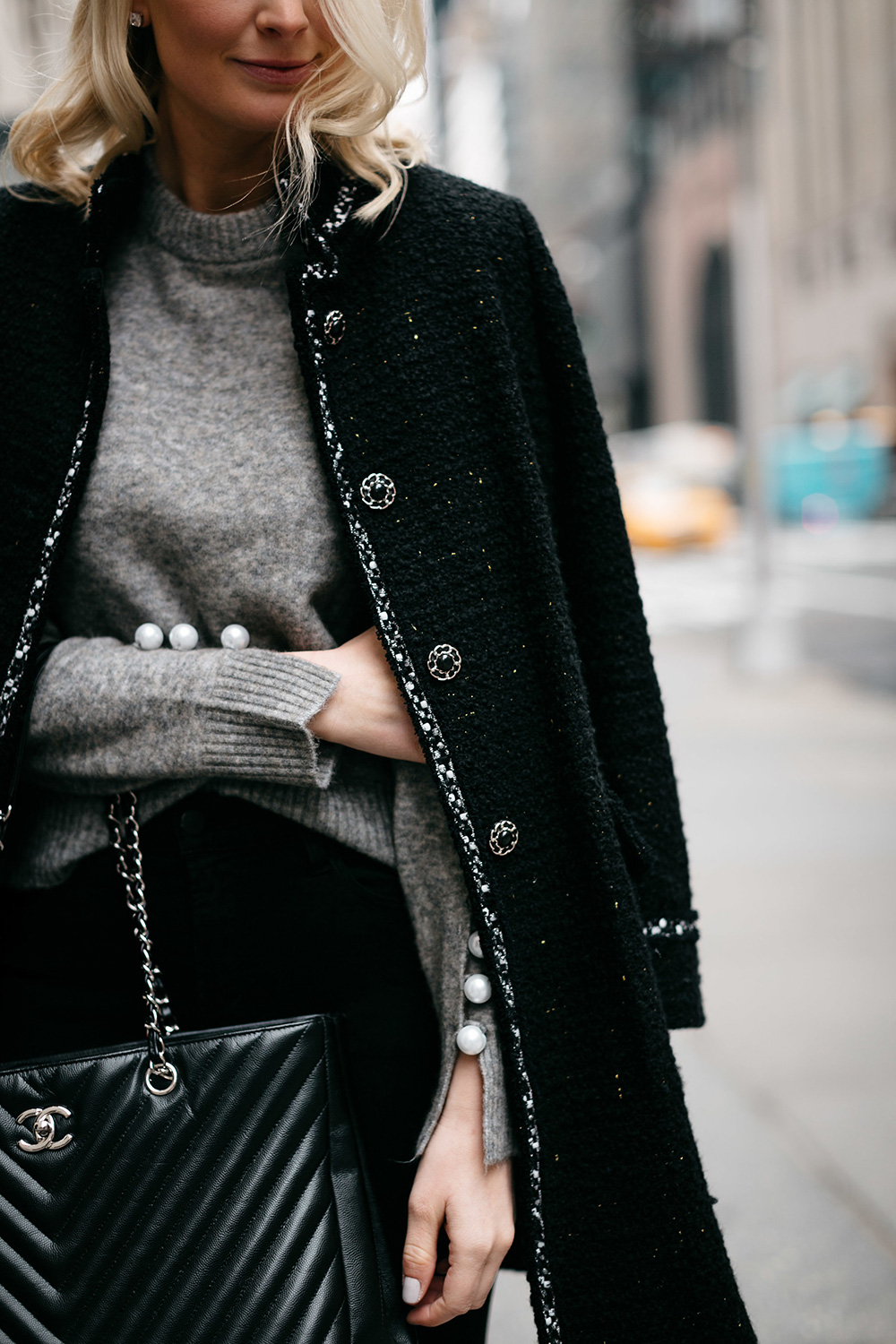 3.1 Phillip Lim Pearl-Sleeve Sweater | Dallas Style Bloggers