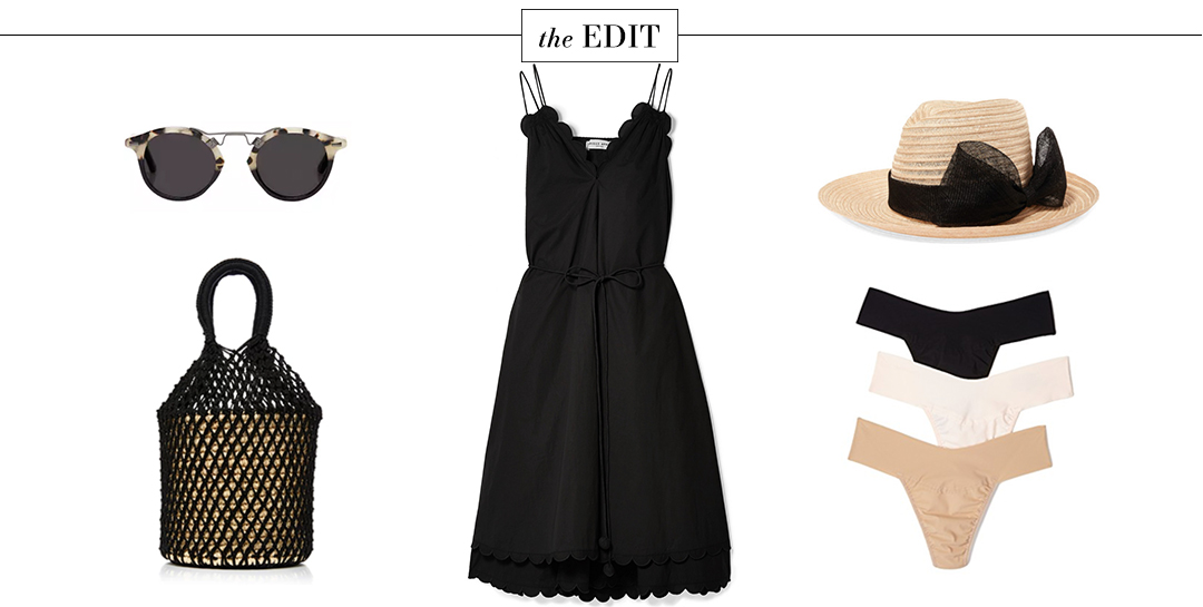 Apiece Apart Mirage Belted Dress in Black | The Edit