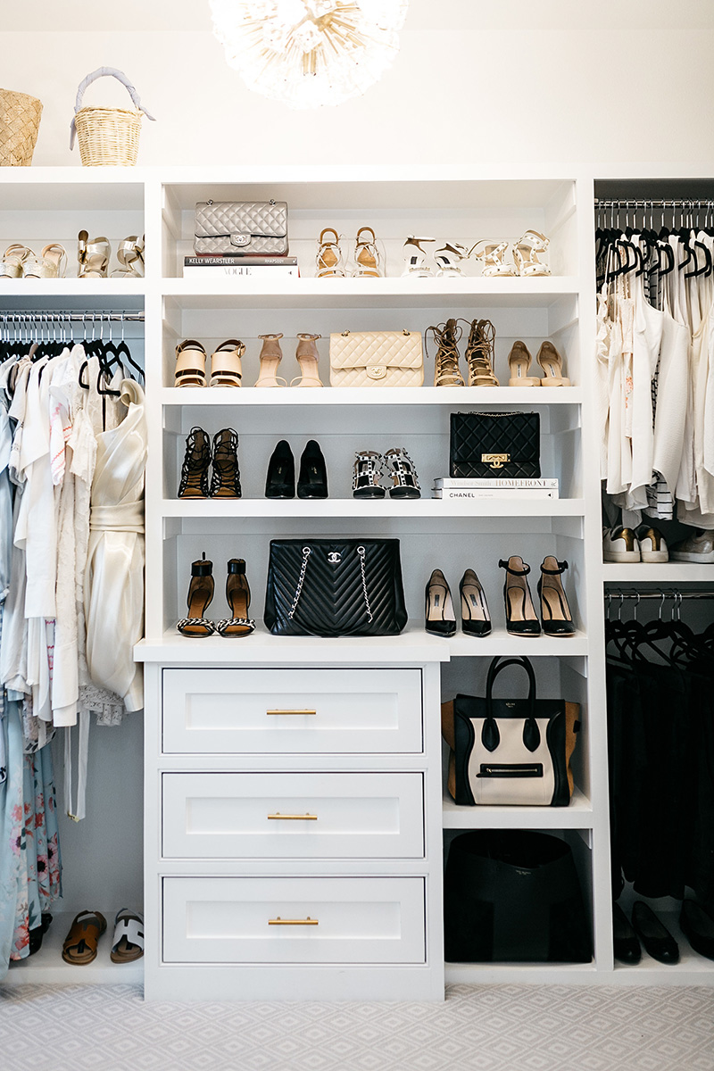 Master Bedroom Closet Reveal | Bench with Shoe Cubbies