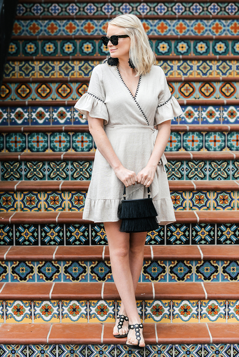 Moon River Linen Wrap Dress | The Style Scribe