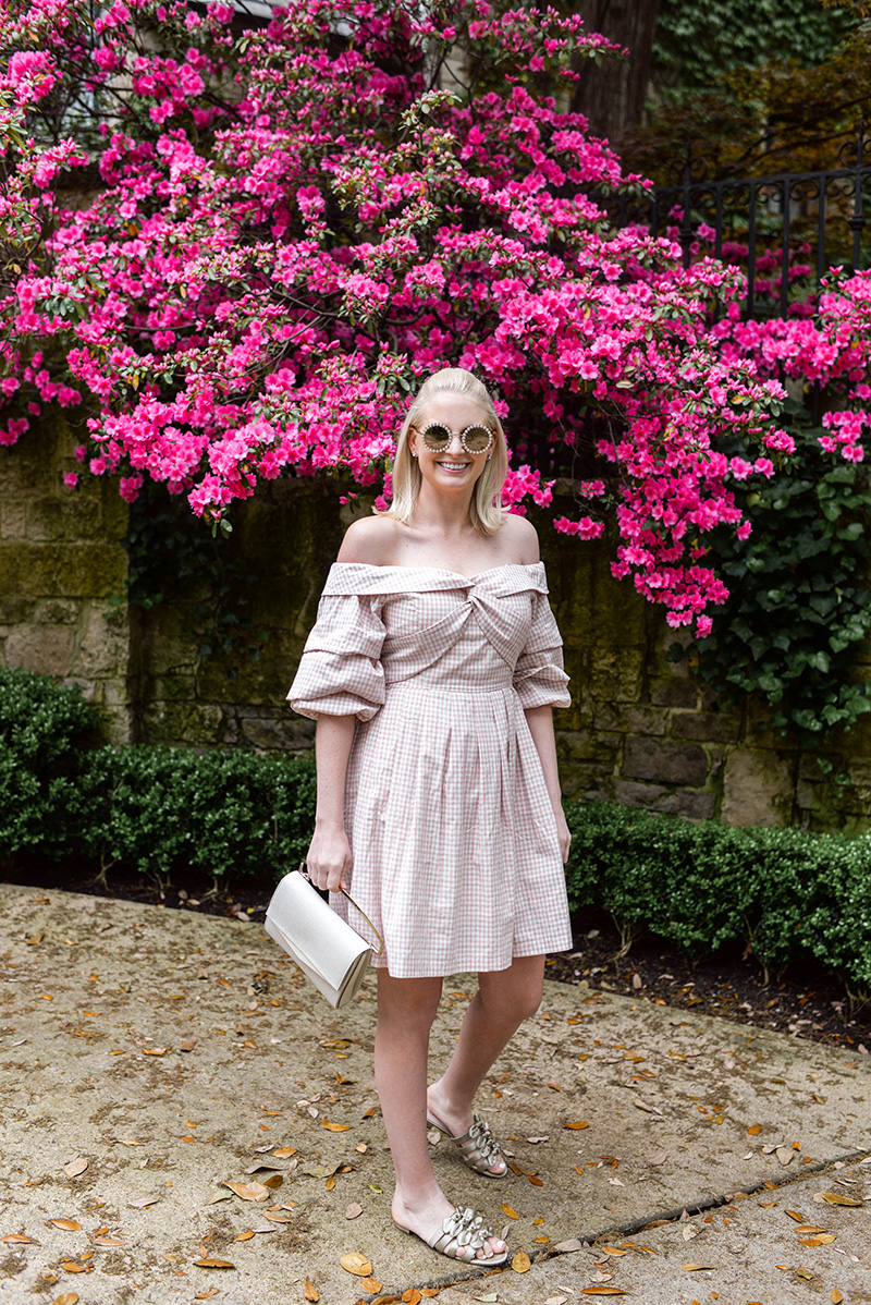 Pink Gingham Dress For Spring | Dallas Style Blogger, Merritt Beck