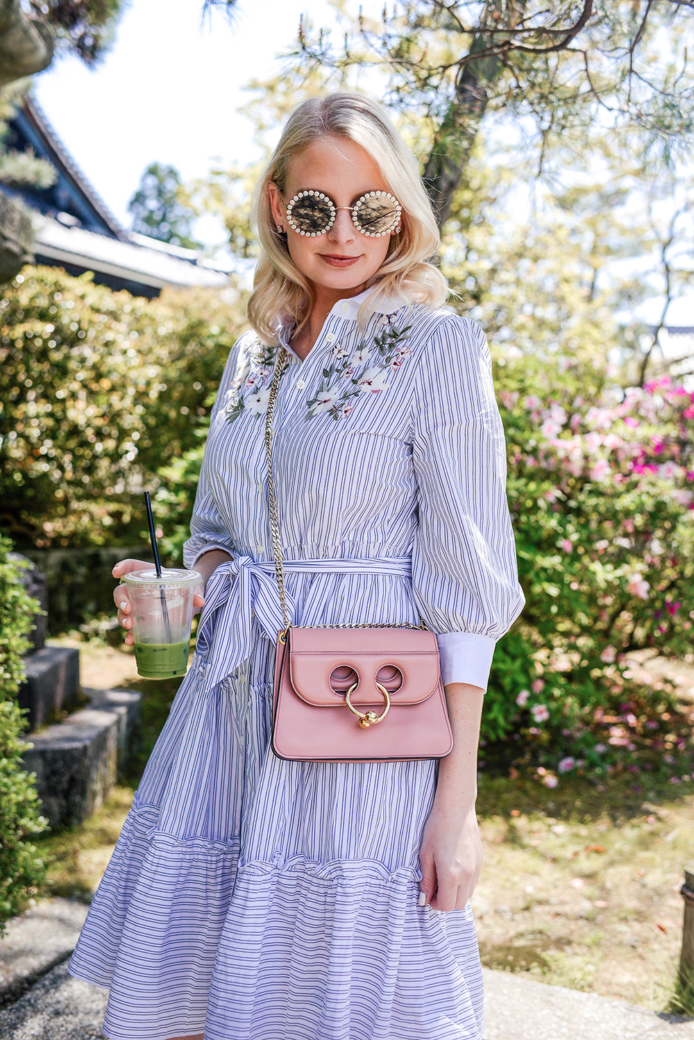 Embroidered Stripe Shirtdress | Dallas Fashion Blogger