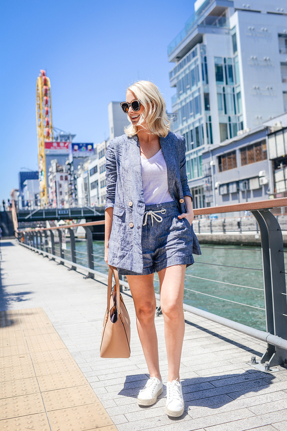 MANGO Linen Short Suit | Dallas Style Blog
