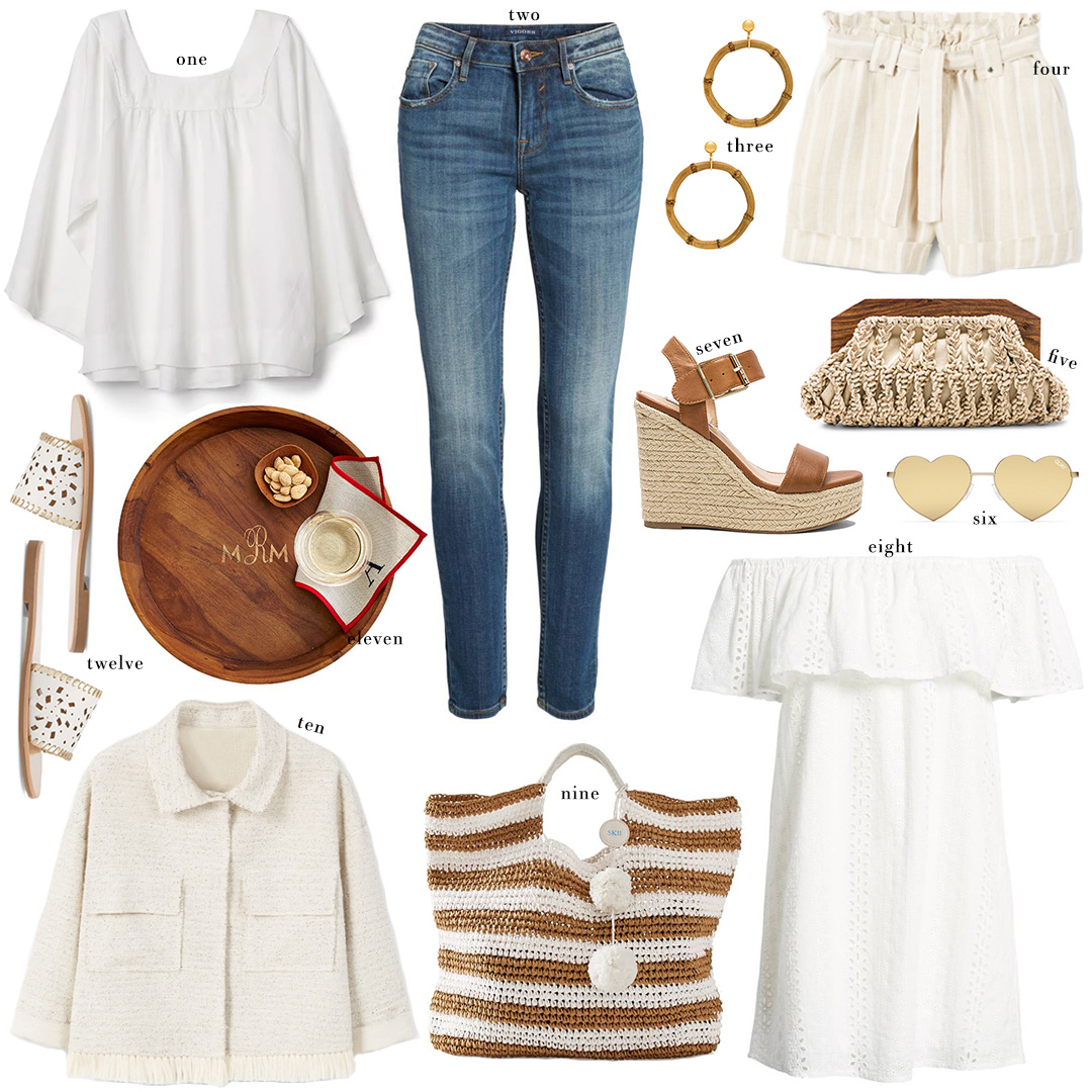 Finds Under $100 Roundup | Summer Whites and Neutral Accessories