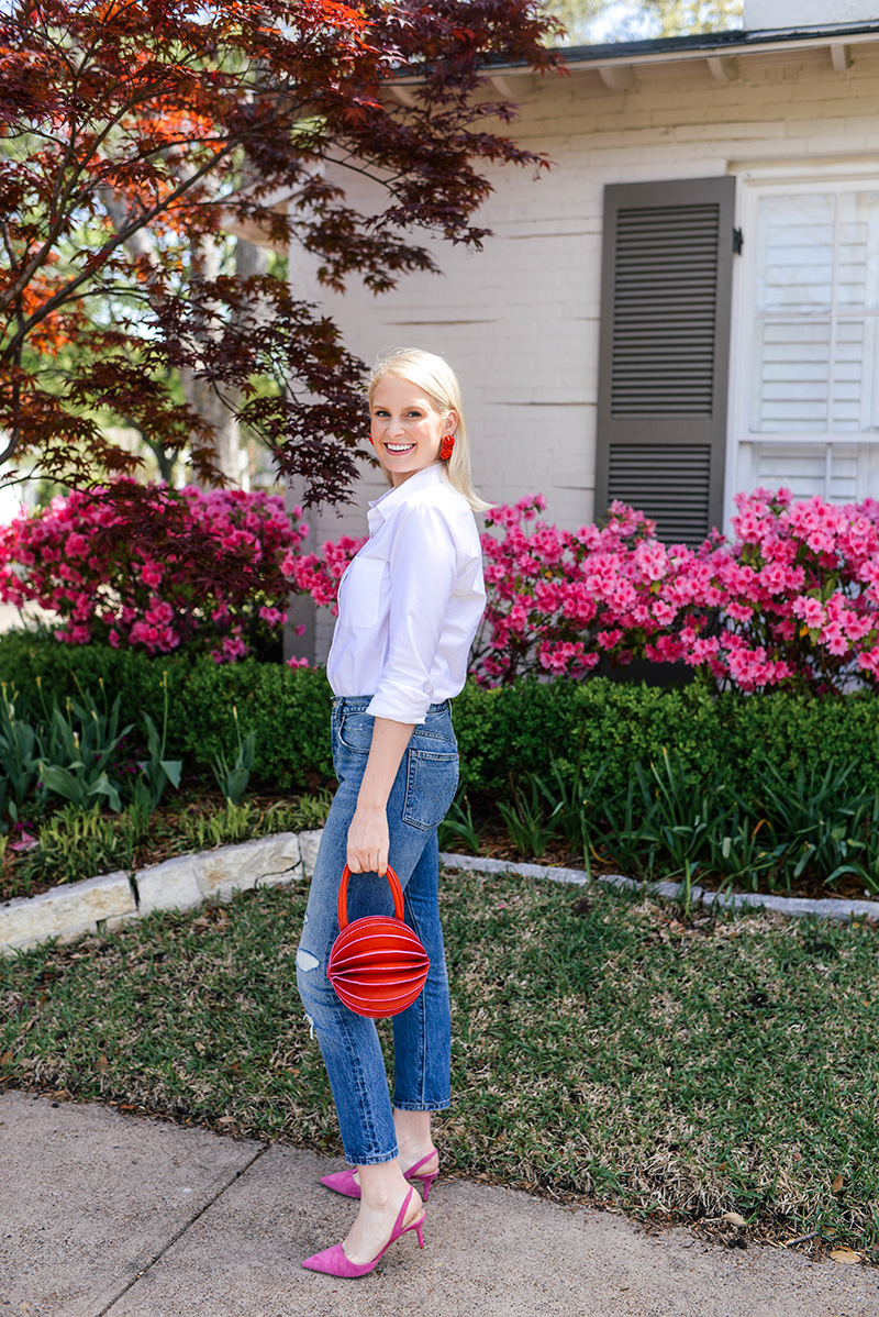 Humawaca Oruga Bag & Barney's New York Suede Slingback Pumps | The Style Scribe