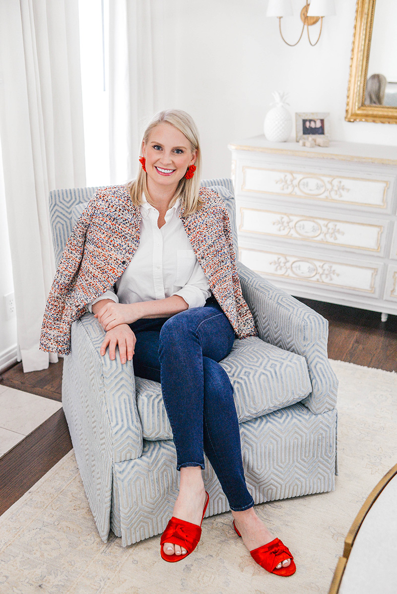 Living Room Sneak Peek + A Tweed Jacket Under $60!