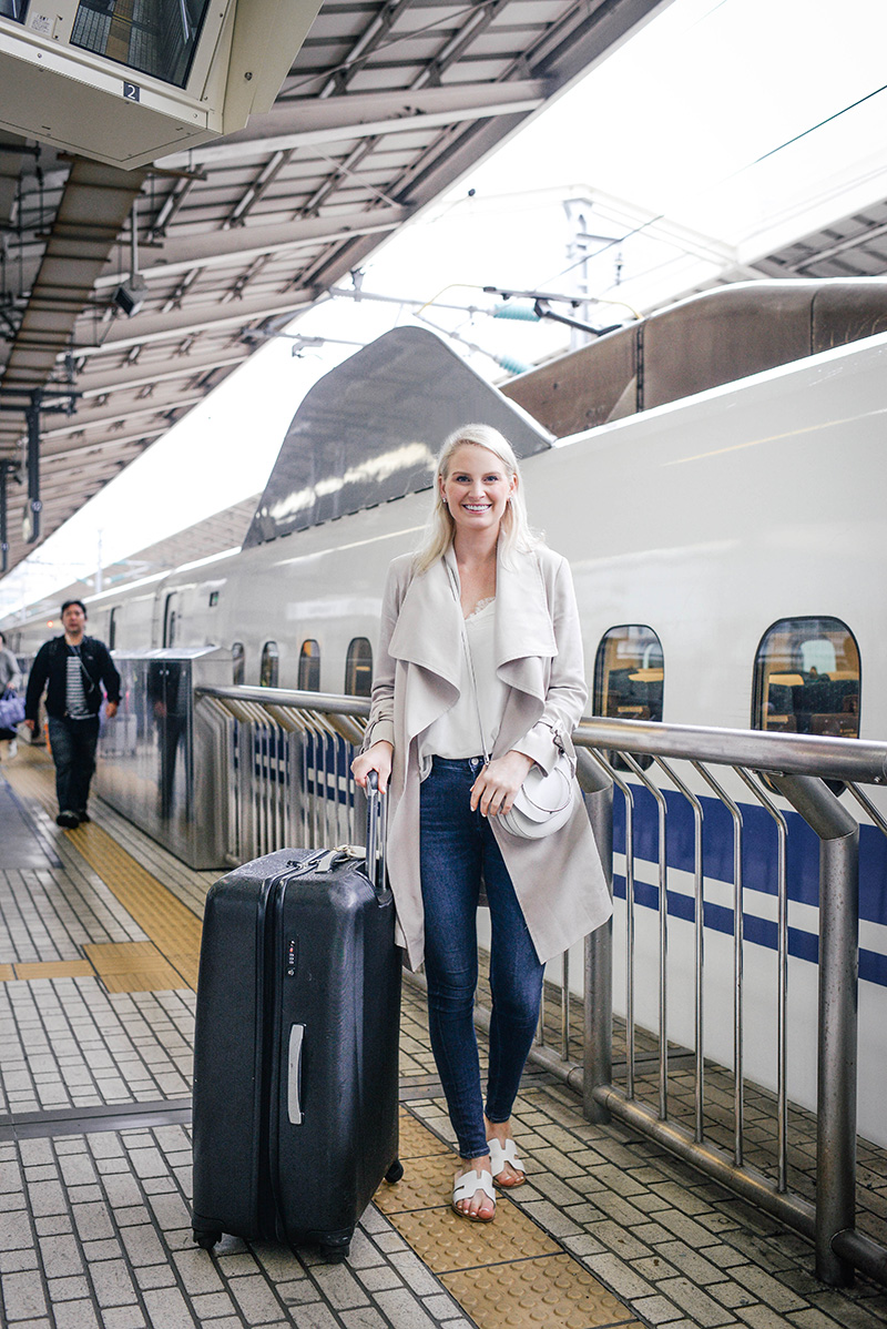 Taking the Shinkansen (Bullet Train) from Tokyo to Kyoto