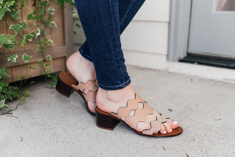 Chloe Lauren Scallop Sandal | Dallas Style Blogger