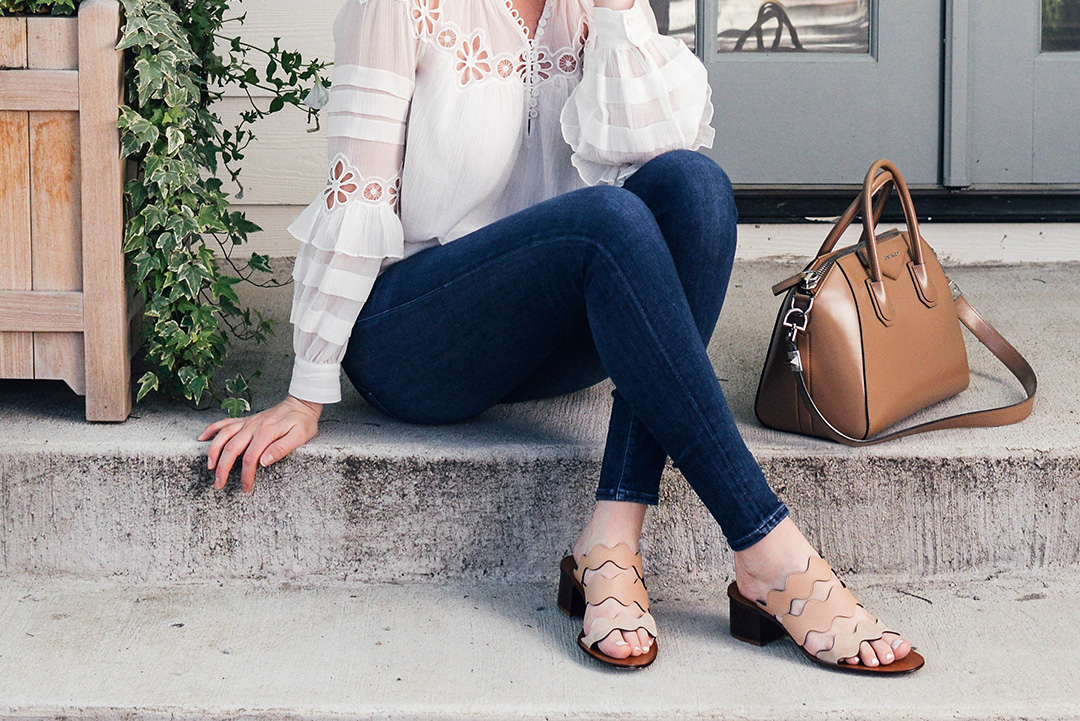 Chloe Lauren Scallop Sandal | Dallas Style Blogger