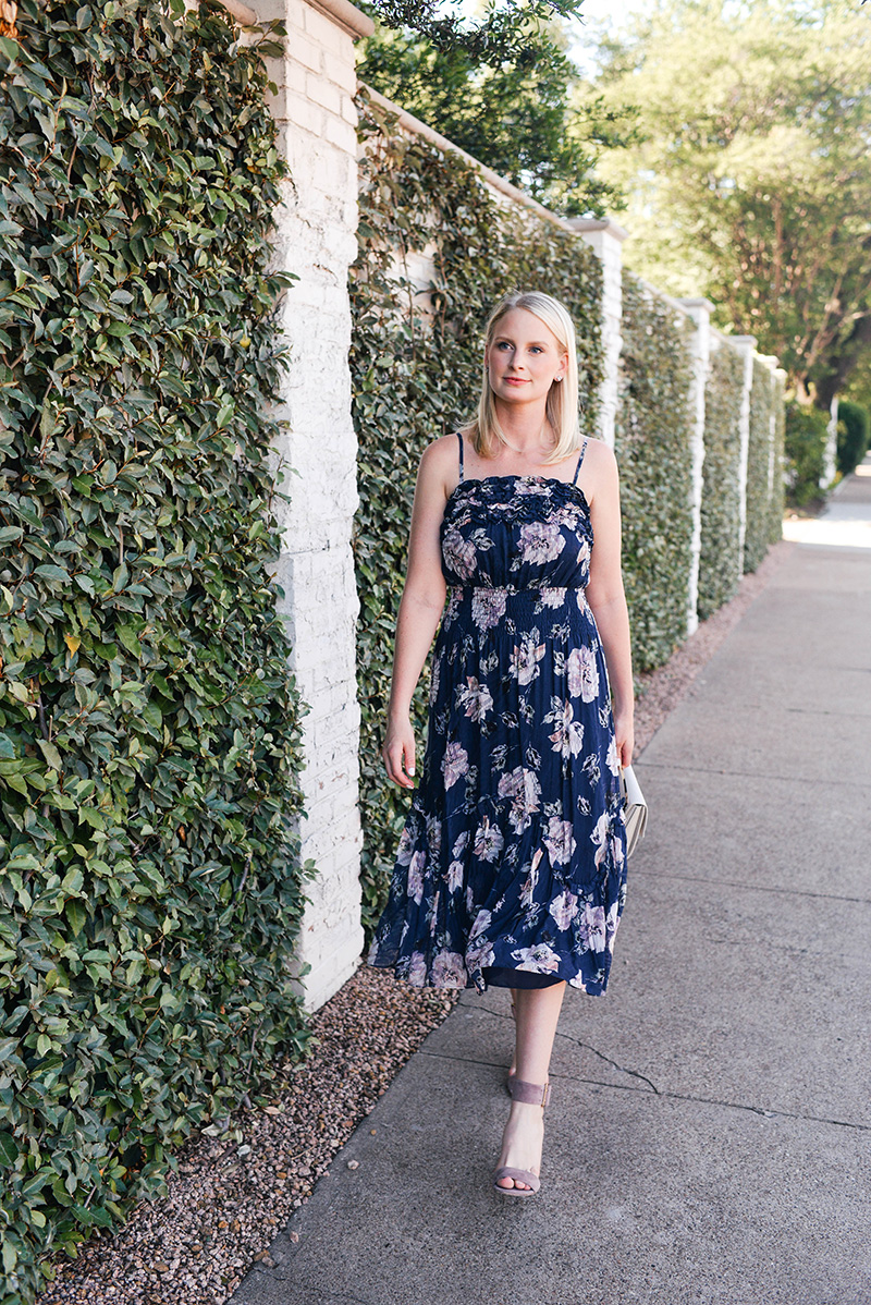 Rebecca Taylor Magnolia Floral Dress | Merritt Beck, Dallas Style Blogger