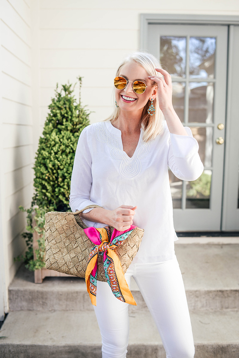 Vineyard Vines White Linen Tunic | Chic Summer Whites