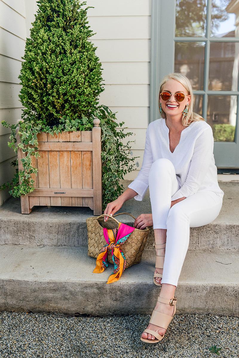 Vineyard Vines White Linen Tunic   Chic Summer Whites