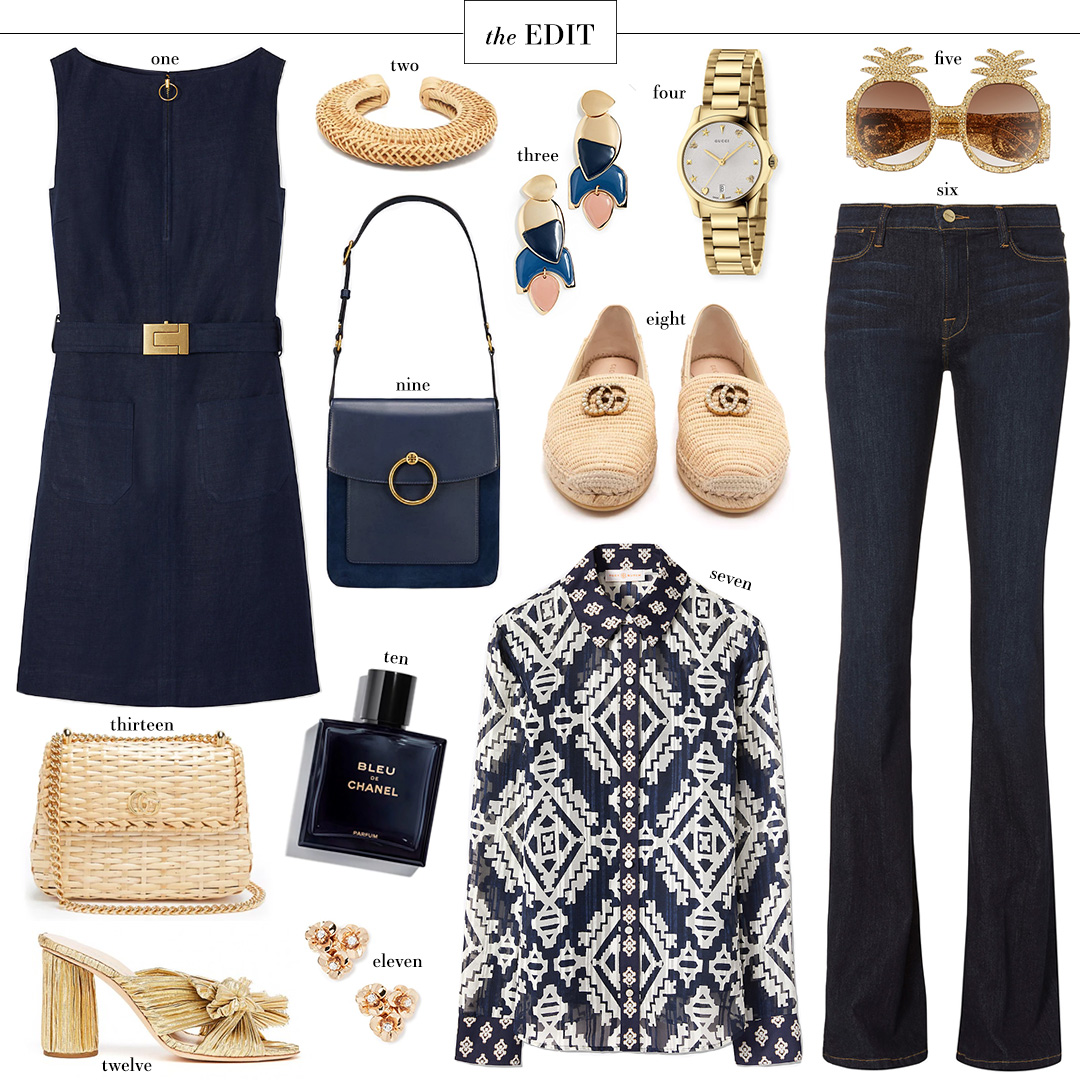 Tory Burch Nadia Dress | Gucci Wicker Bag